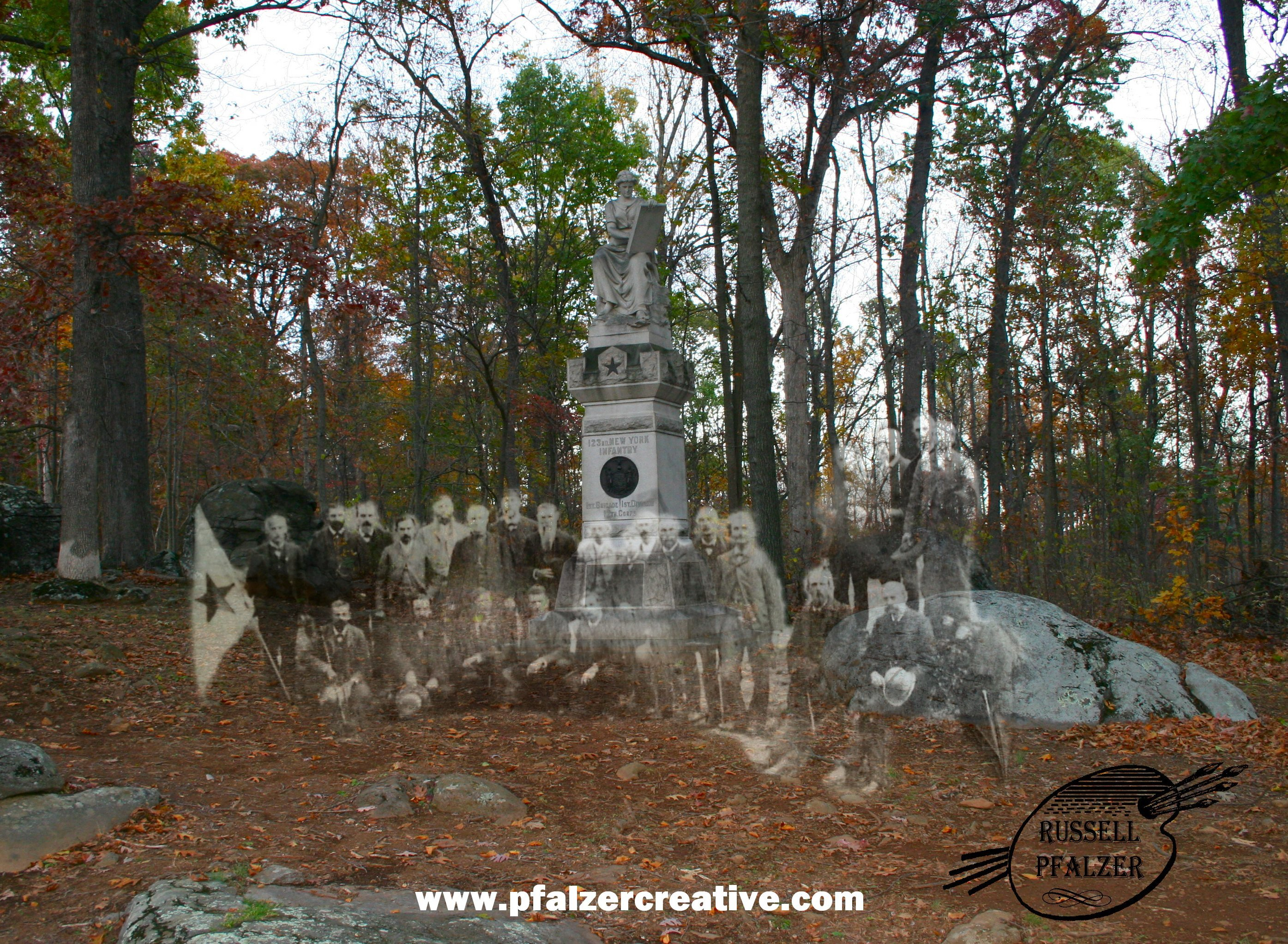 The 123rd New York Infantry Monument (alternate)