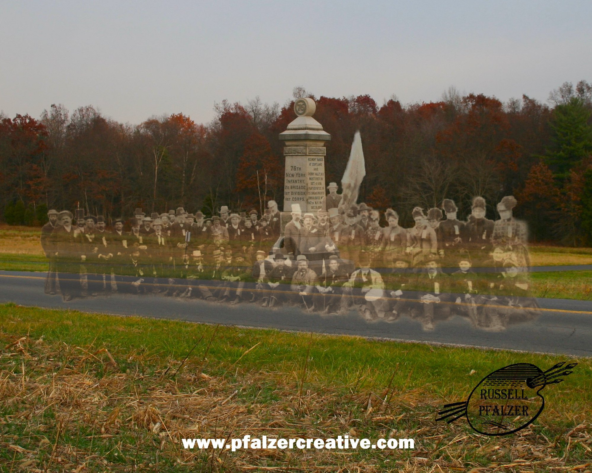 76th New York Infantry, Day One Battlefield, Gettysburg