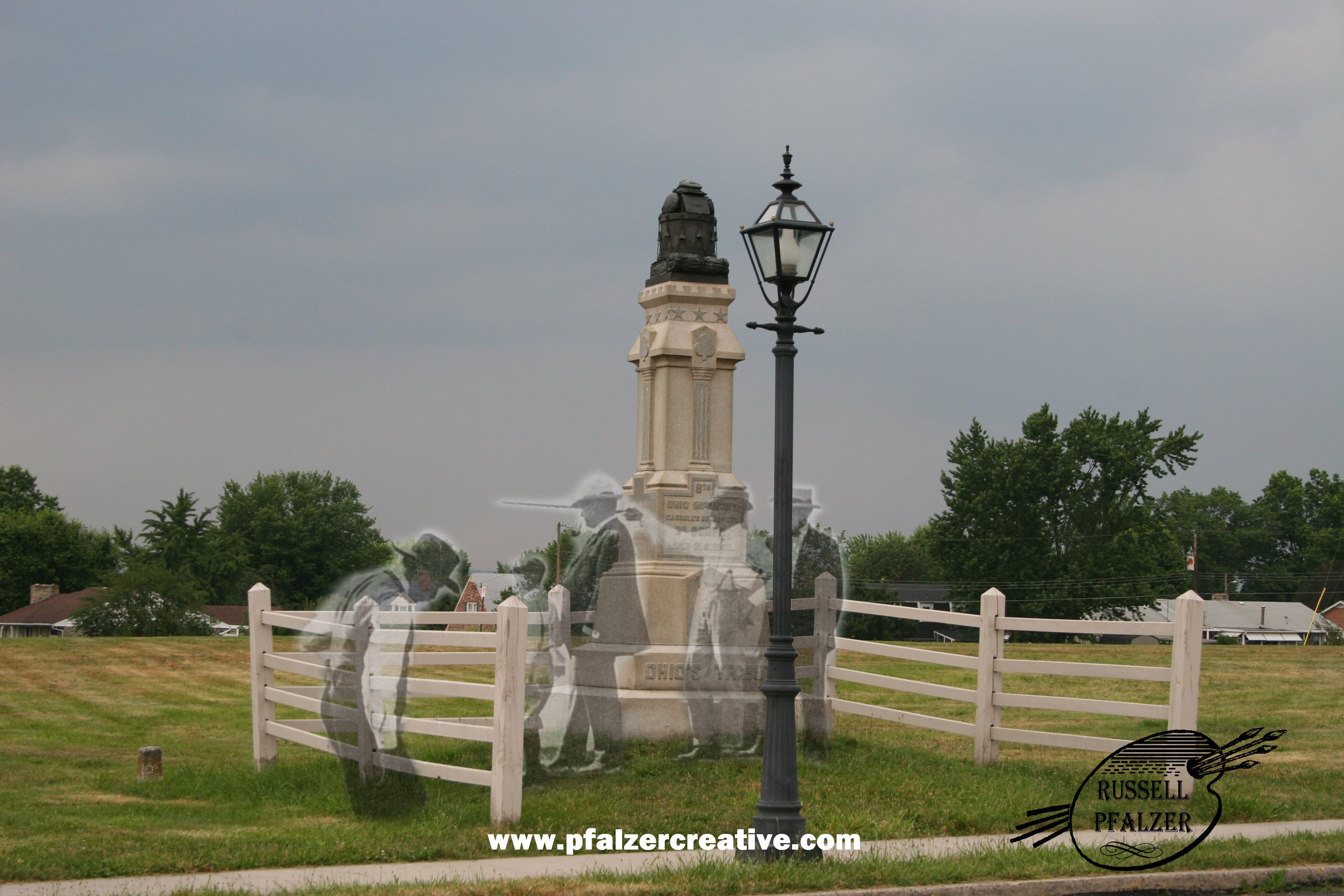 The 8th Ohio Infantry, Day Two Battlefield on the Emmeitsburg Road, Gettysburg,