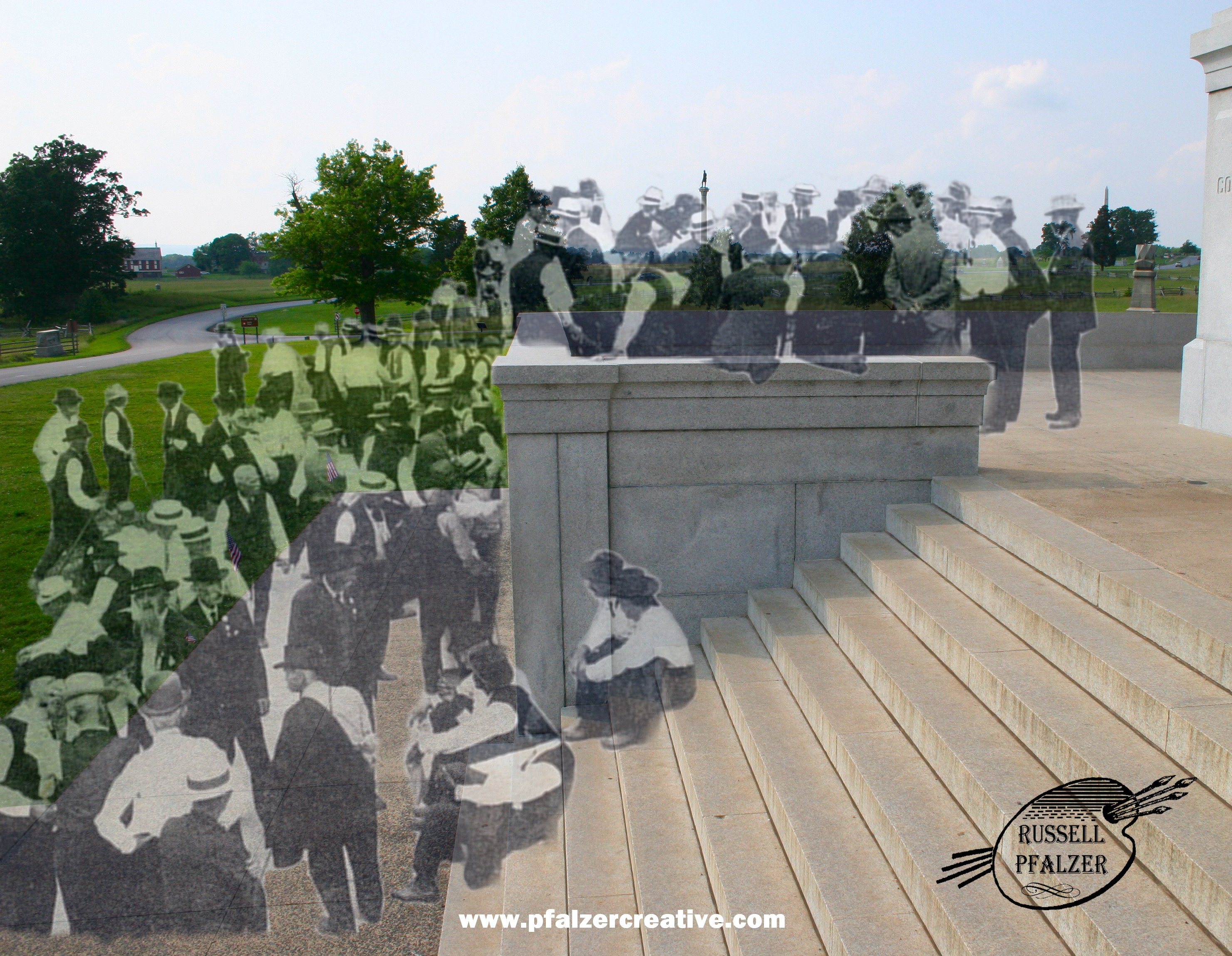 The Pennsylvania State Memorial, Gettysburg July 1913