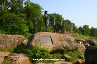 The Gouverner K. Warren Portrait Statue, Little Round Top, Gettysburg